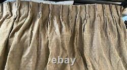 Pair (2) of Vintage Fortuny Persiano Drapery Panels in Apricot on Silver