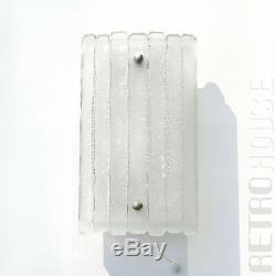 Pair 70s Vintage Wall Light Lamp Sconce Bath Vanity Glass German Mid Century