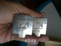 Pair 950 silver Vintage Japanese Sterling Pagoda Salt Pepper Shakers box new