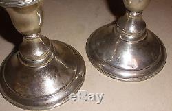 Pair 9.5 Vintage Sterling Silver 3 arms candlelabra candle holder Spaulding