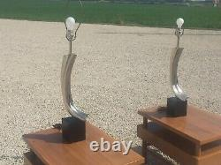 Pair Mid Century Modern Laurel Lamp Tempestini Mod 70s Lamps Vintage