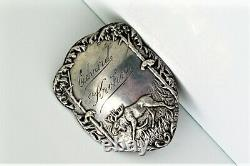 Pair Of Vintage 830 Silver Polar Explorer By Magnus Aase Medal Engraved