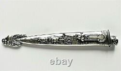 Pair Of Vintage 8.5 Ornate Gaucho Boot Knives With Sheaths Nickel Silver