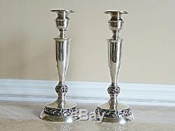 Pair Of Vintage Mueck- Carey Sterling Silver Shabbat Candlesticks