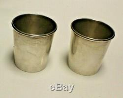 Pair Of Vintage Sterling Silver Mint Julep Cups Newport 1657 121219lrp02/lx