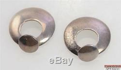 Pair Of Vintage Taxco TCM-09 Mexico Marked 925 Sterling Silver Post Earrings