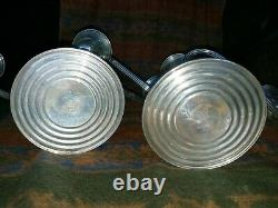 Pair VTG Gorham Sterling Silver Puritan Style Candelabra Candlesticks FREE SHIP