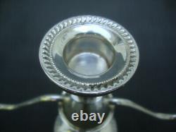 Pair Vintage 50s Sterling Silver Duchin Weighted Candelabra Candlesticks Holder