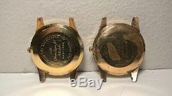 Pair Vintage Citizen AD51507081 Super Jet 39J Auto Dater for Parts/Repair AS IS