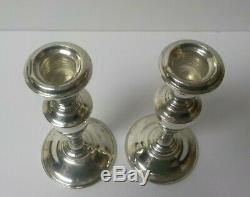 Pair Vintage Gorham Sterling Silver 7 Candlesticks