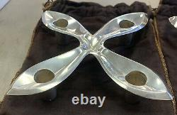 Pair Vintage Sterling Silver Candle Stick Holders Makers 23419 TIFFANY & CO