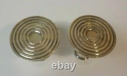 Pair Vintage TOWLE Sterling Silver 4 Candlesticks