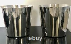 Pair Vintage Tiffany & Co Sterling Silver Mint Julep Cups No Mono
