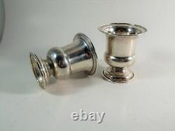 Pair Vintage Tiffany & Co. Sterling Silver Urn Cup Goblet Vases Pattern 2729
