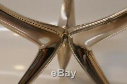 Pair Vintage Wilhelm T. Binder Sterling Silver Modernist / Deco Candelabra's