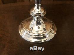 Pair Vtg GORHAM 808/1 3-Light Sterling Silver Weighted Candelabra Candlesticks