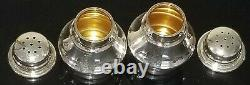 Pair Vtg Tiffany & Co Sterling Silver 925 Salt And Pepper Shakers Made Germany