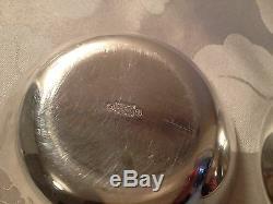 Pair of Fabulous Vintage Norwegian Sterling Silver & Enamel Bowls by J Tostrup