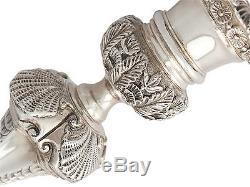 Pair of Irish Sterling Silver Candlesticks Vintage 1970