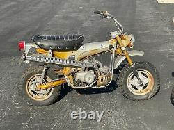 Pair of Two Vintage 1969 Honda CT70 silver tags Barn Find Condition