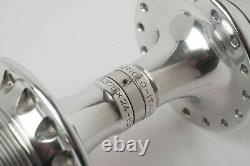 Pair of Vintage 1980s Campagnolo C Record ISO 1.375 x 24 32 hole Hubs 100/130