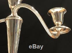 Pair of Vintage Gorham 808/1 Weighted Sterling Silver 3 Candle Candelabra