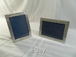 Pair of Vintage Italian 800 Silver 5x7 Picture FramesLeaf MotifBeautiful