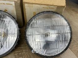 Pair of Vintage NOS B-L-C Driving Lamp Sealed Unit 6 Volt Headlight Bulbs 929911