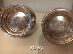 Pair of Vintage Royal Danish Sterling Salt & Pepper Shakers S107