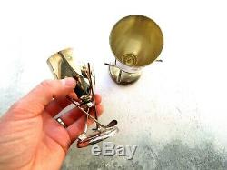Pair of Vintage Silver Plated Golf Trophies