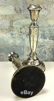 Pair of Vintage Sterling Silver 925 Weighted Candle Stick Holders 582 gr