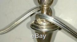 Pair of Vintage Sterling silver Gorham 3 lights candlesticks candelabra