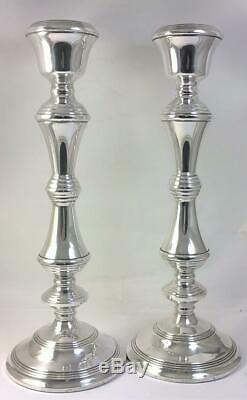 Pair of Vintage hallmarked Sterling Silver Candlesticks (27.5cm) 1974
