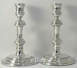 Pair of Vintage hallmarked Sterling Silver Candlesticks (6.6) 1958