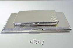 Pair of vintage WWII Sterling Silver cigarette cases 1935-1940 Lovers Tokens