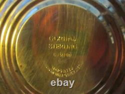 Pair vintage GORHAM sterling weighted candle holders with glass hurricane shades