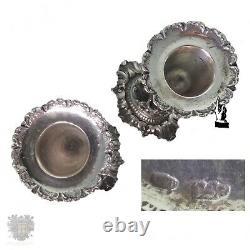 Pair vintage Italian solid silver cherub candlesticks