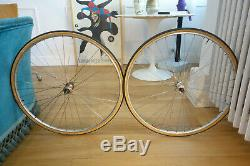 Paire de roues vintage Pelissier 2000 Professionel Mavic Argent 10