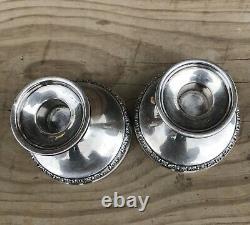 Prelude Vintage Candle holder by International Sterling Silver N212 Pair