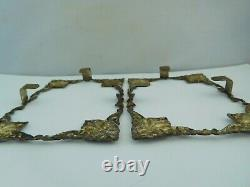 Quality Pair Of Vintage / Antique Solid Silver Middle Eastern / Persian Frames