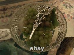 RARE MAPPIN AND WEBB PAIR GRAPE SCISSOR SILVER PLATED MADE Antique Vintage