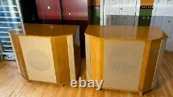 RARE VINTAGE PLYWOOD EMPTY SPEAKER CABINETS PAIR used with TANNOY 15'' SILVER