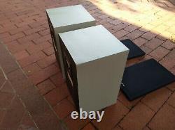 RARE Vintage 1981 Sony SS-X300 Flat Diaphragm Square Bookshelf Speakers Pair