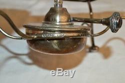 Rare Asprey London Pair 2 Coffee Pots Original Warmer Silver Art Deco Vintage