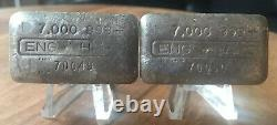 Rare Sequential Vintage Engelhard 7 Oz Collector Silver Bars Only Pair On Ebay