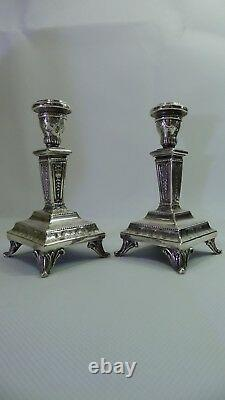 Rare Vintage Pure Silver 999 pair of beautiful Candle Stick Holders