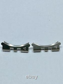Rolex Vintage Original end piece 555B a pair Stainless steel Jubilee Bracelet