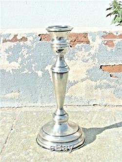SUPERB VINTAGE HANDWROUGHT PAIR OF STERLING SILVER CANDLE HOLDERS 417 g WEIGHED