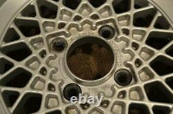 Set of (2) Weds Mesh Wheels 14x6 4x114.3 JDM Rims Rare Vintage 14 pair Silver