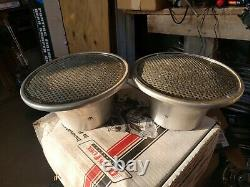 Silver Anodized Velocity Stacks 5 1/8 Moroso, Mr Gasket PAIR Vintage day 2
